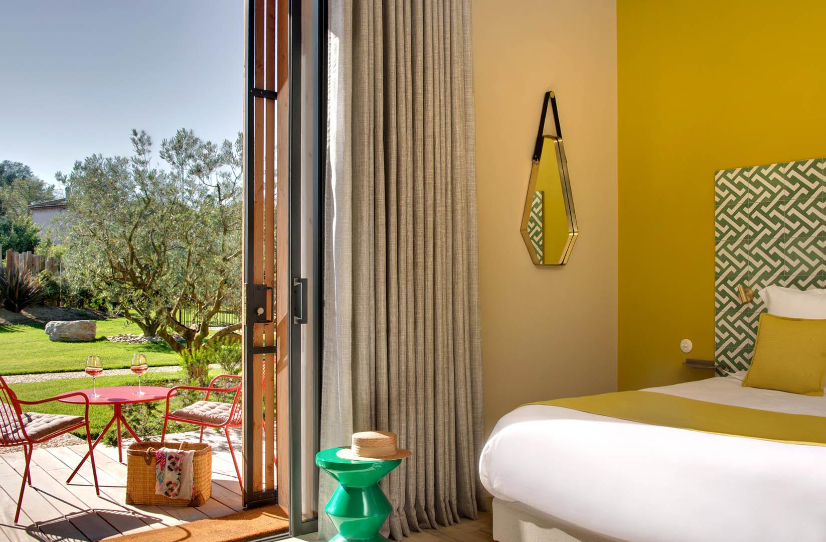 chambre avec terrasse, maison d'hôtes Provence, Le Pré Gourmand