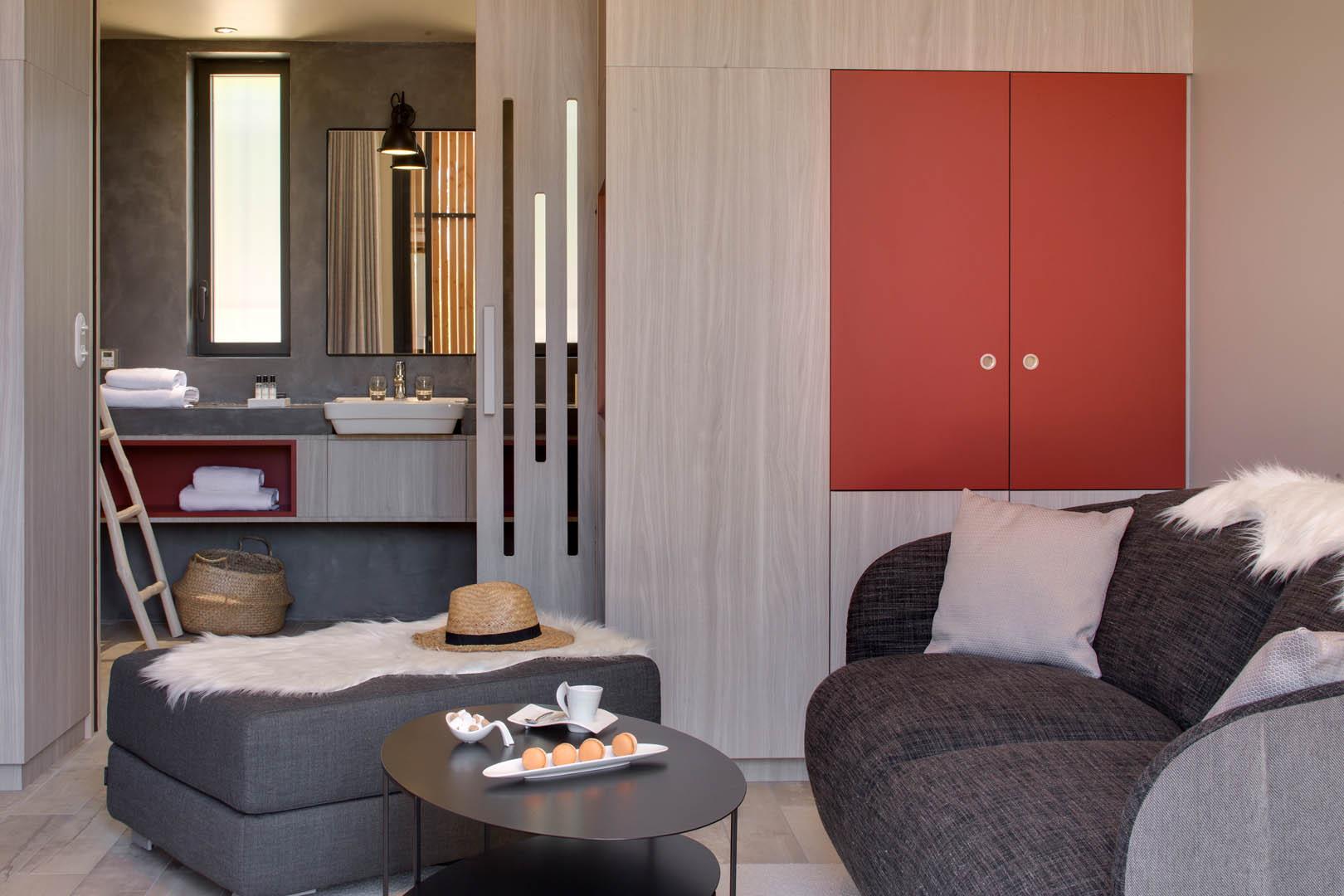 Chambre avec coin salon, maison d'hôtes Alpilles, Le Pré Gourmand