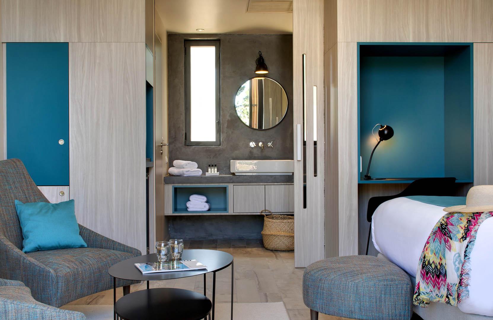 chambre moderne, maison d'hôtes Alpilles, Le Pré Gourmand