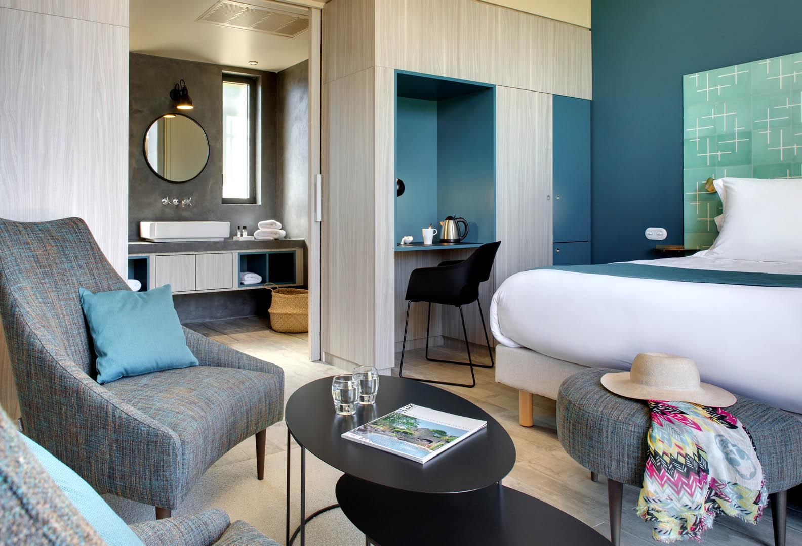 chambre bleue, maison d'hôtes Alpilles, Le Pré Gourmand