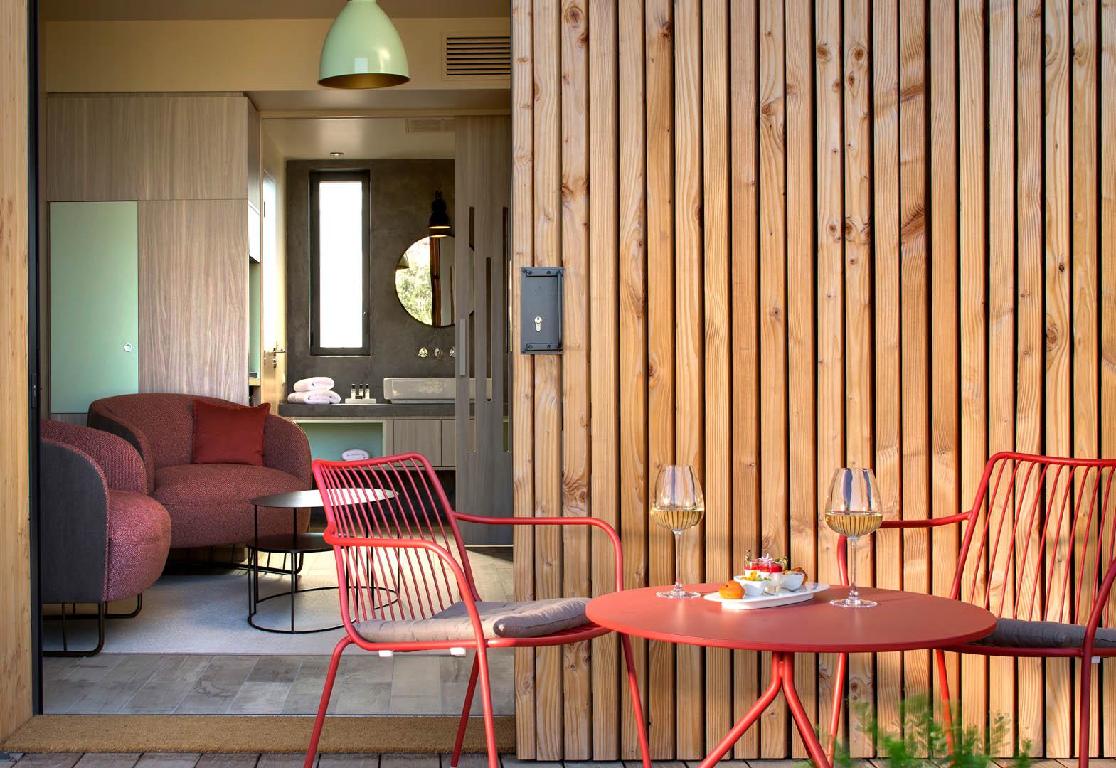 Terrasse de la chambre, maison d'hôtes Provence