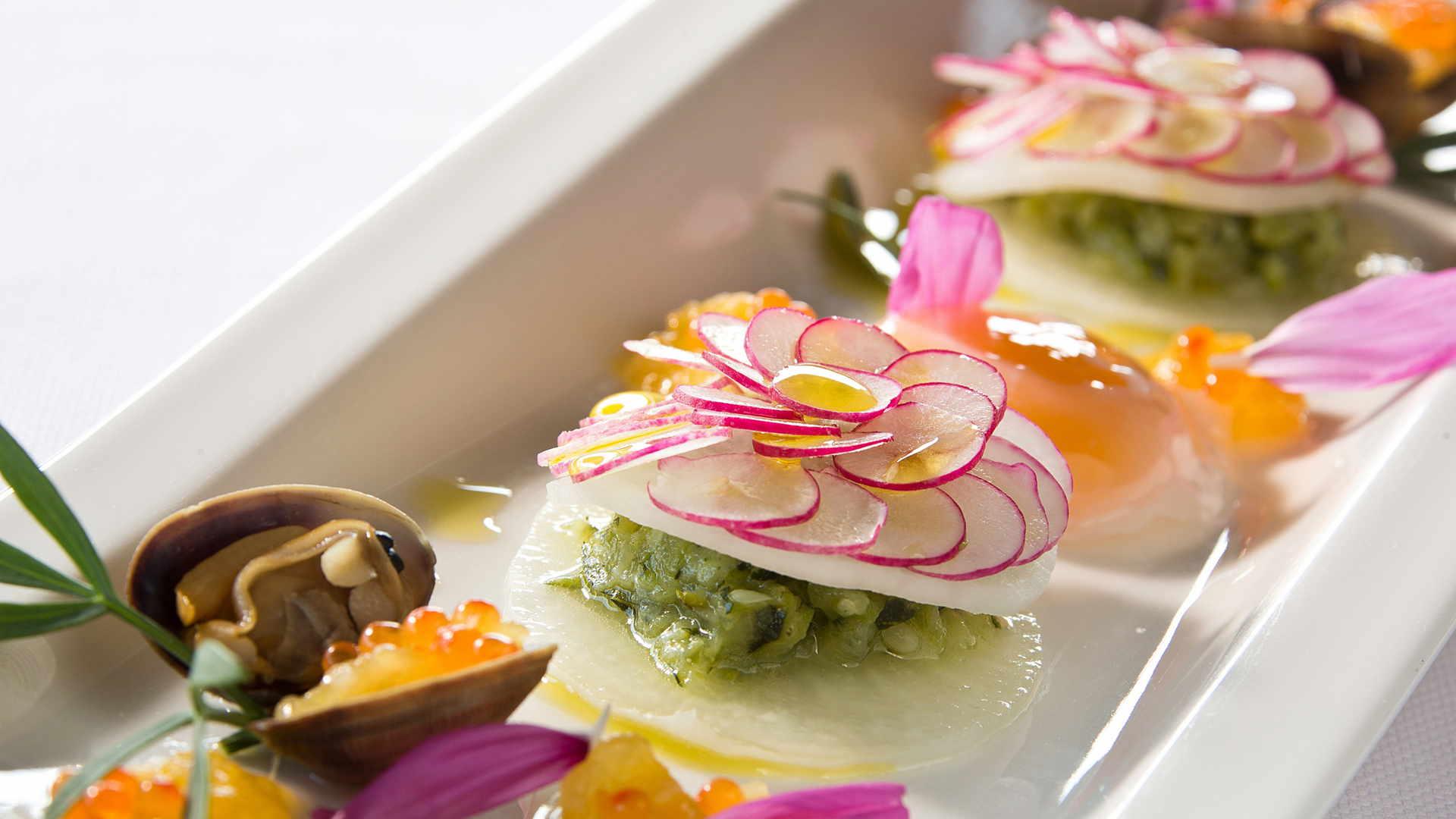 Plat gastronomique, restaurant gastronomique Baux de Provence, Le pré Gourmand