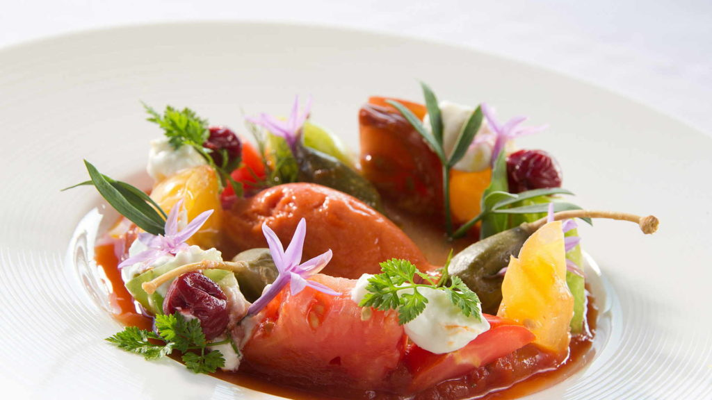 plat gastronomique, restaurant gastronomique provence, Le Pré Gourmand