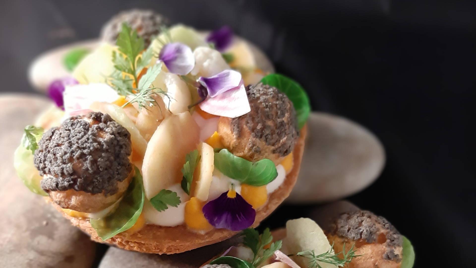 Plat gastronomique, restaurant eyragues, Le Pré Gourmand